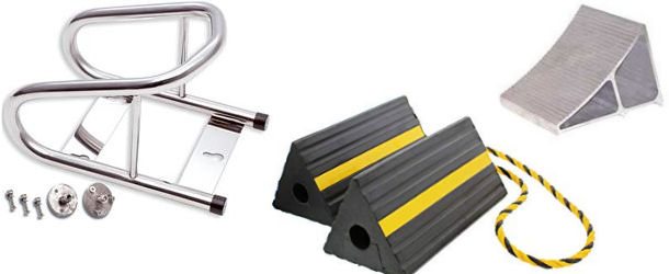 Motorcycle and ATV Wheel Chock Systems