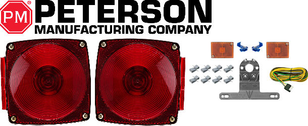 PETERSON Trailer Light Kits and Tail Lights