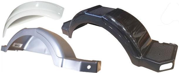 """#008550 Fulton Molded Black Plastic Wheel Fender for 8/"""" to 12/"""" Tires 2-PACK"""