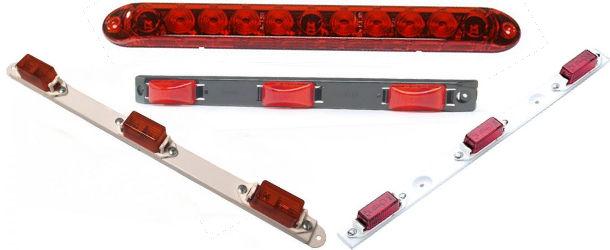 Triple-Light Rear Identification Light Bars