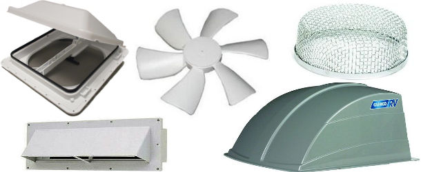 RV - Camper Vents, Domes, Fans and Skylights