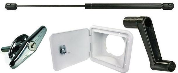 RV Hatches, Window and Door Hardware