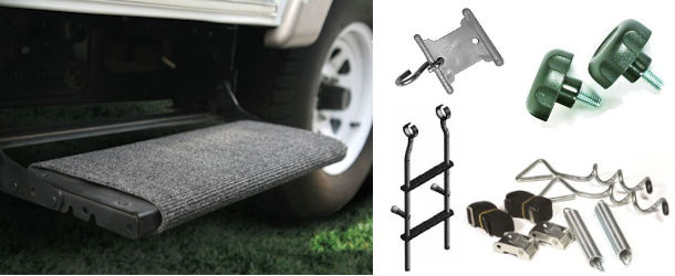RV Ladders, Trim Insert and Awning Accessories
