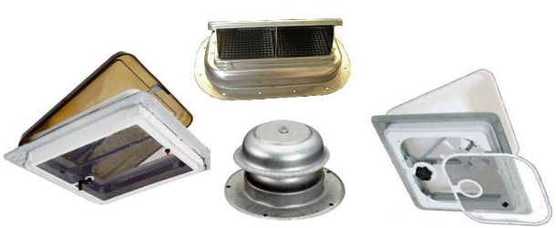 RV Roof Mount Vents and Fans