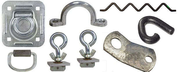 Tie-Down Rings, Hooks and Eye Bolts