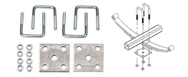 Trailer Axle Tie Plate Kits and Axle Hardware
