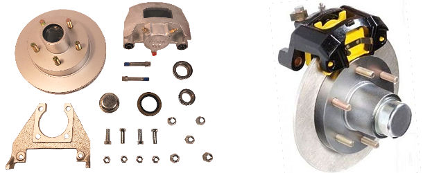 Disc Trailer Brake Kits, Parts and Accessories