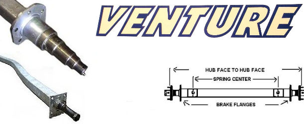 VENTURE Factory Replacement Trailer Axles