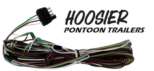 hoosier pontoon trailer 4 wire x 37 wiring harness kit wh1837 ebay rh ebay com pontoon trailer wiring harness bennington pontoon wiring harness