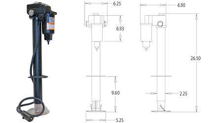 3.5k 12V RV Electric Tongue Jack w/ 7 Pole Wiring #0093500 | eBay  V Rv Wiring Diagram on 12v rv lighting, 12v rv water pump, 12v rv transfer switch, 12v relay diagram,