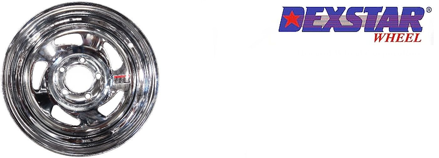 Directional Style Trailer Wheel Chrome Rim 14 x 5.5 in 5 on 4.5