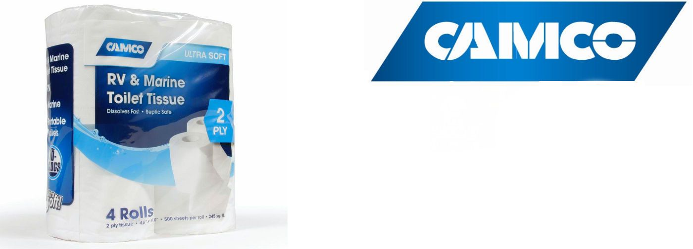 Camco Rv Marine 2 Ply Toilet Tissue 4 Pack 40274