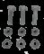 MAGIC TILT Single Fender Pad Hardware Kit #PY9068-1