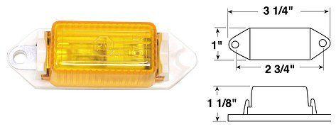 V107WA #107W Amber Mini Clearance Light Peterson Mfg 1