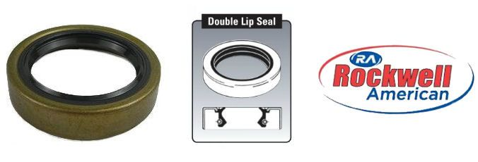 "Qty 50 10-60 15192TB Double Lip Seals for 2,000 EZ-Lube Axles 1.50/"" x 1.98/"""