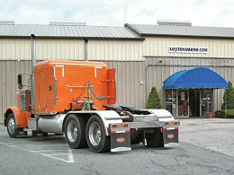 Showroom parking for all sizes of truck & trailers