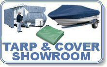Poly Tarps & Covers at our Delaware Showroom